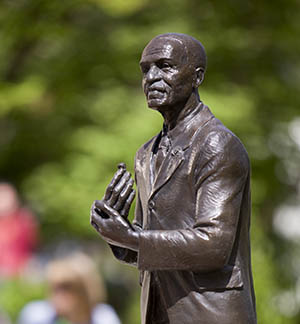 George Washington Carver Sculpture outside the Iowa State University Seed Science Center